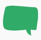 grüne Sprechblase aus dem Logo